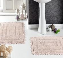 """Набор ковриков для ванной  """"MODALIN"""" кружевной EVORA 60x100 + 50x70 см 1/2"""